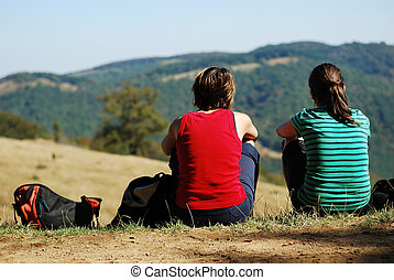 young women outdoor
