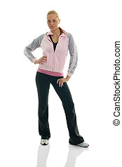 Young women posing in fitness outfit