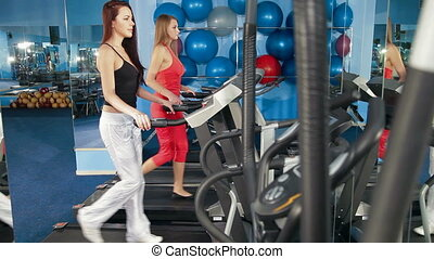 Young Women Practicing In The Gym