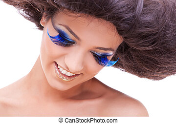 young women with a beautiful make-up