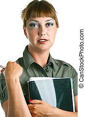 women with a folder