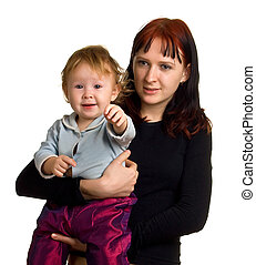 women with a little child on hands