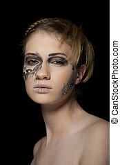 Young women with fantasy make up