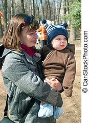 women with little boy