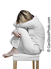 young women suffering the burn out syndrome