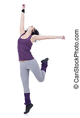 young wonderful ballerina dancing