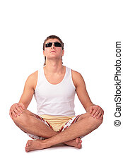 young yoga man