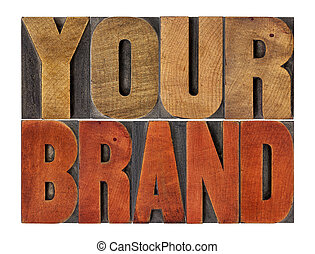 your brand word abstract