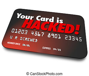 Your Credit Card is Hacked Stolen Money Identity Theft -...