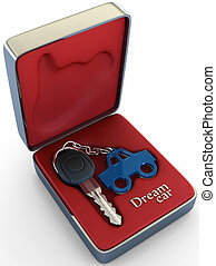 Your dream car - Concept of your dream car. The key inside a...
