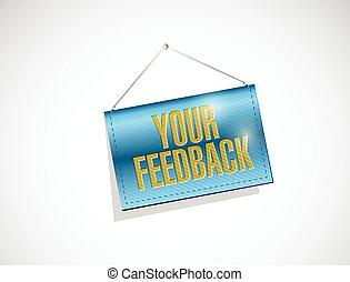 your feedback hanging banner illustration