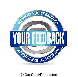 your feedback seal illustration design