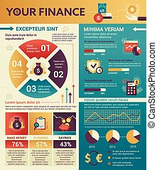 Your Finance - poster, brochure cover template
