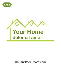 Your green home logo conception