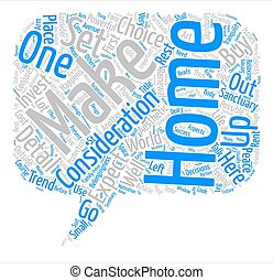 Your Home Is Your Sanctuary text background word cloud concept