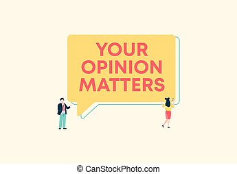 Your opinion matters. Marketing questions and information research of customer analysis.