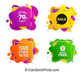 Your opinion matters symbol. Survey or feedback sign. Vector