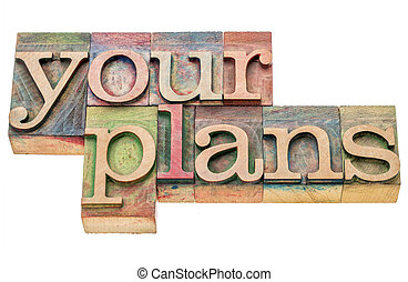 your plans word abstract