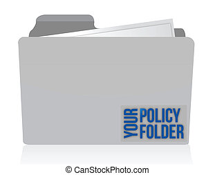 your policy folder illustration design over white