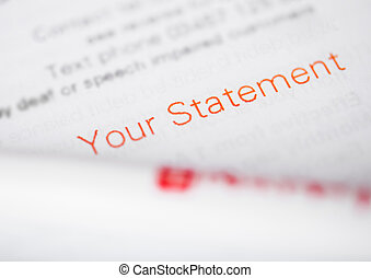 Your statement paper for tax and business