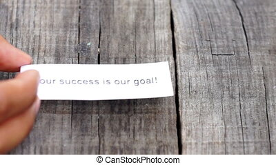 Your Success is our goal - A Your Success is our goal paper...