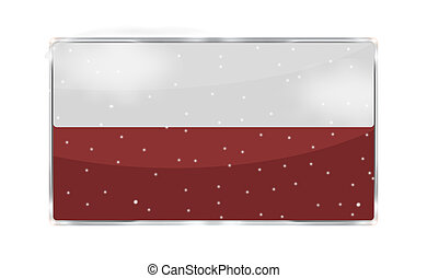 your text here blank red snowflakes icon button