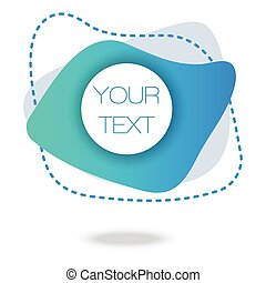 Your text here. Blue Gradient Minimal Pattern. Abstract Poster. Colorful Geometric Background. 3d Fluid Banner.