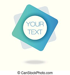 Your text here. Blue Minimal Pattern. Abstract Poster. Colorful Geometric Background. 3d Fluid Banner.