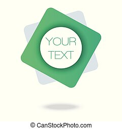 Your text here. Green Minimal Pattern. Abstract Poster. ...