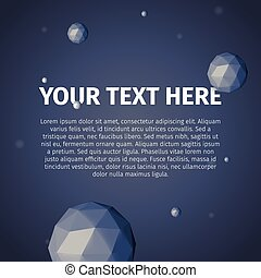 Your text here with vector group of triangles spheres