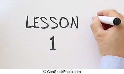 Your turn written on whiteboard - Whiteboard writing...