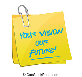 your vision our future post it message