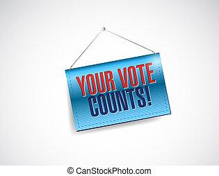 Your vote counts banner illustration