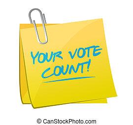 Your vote counts memo illustration