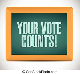 your vote counts message illustration