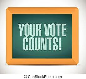 your vote counts message illustration