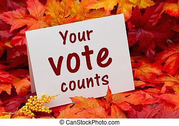 Your vote counts message