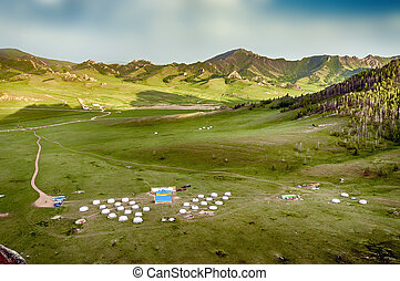 yourt, キャンプ, mongolian