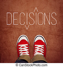 Youth Decision Making Concept, Top View - Youth Decision...