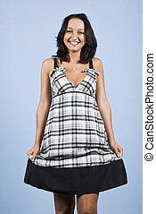 Youth female model in summer dress