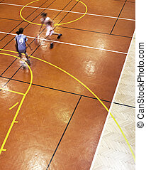 youth girls indoor basketball