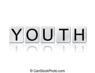 Youth Isolated Tiled Letters Concept and Theme