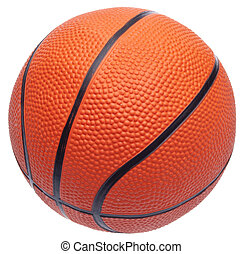 Youth Sized Basketball Isolated on White with a Clipping Path.