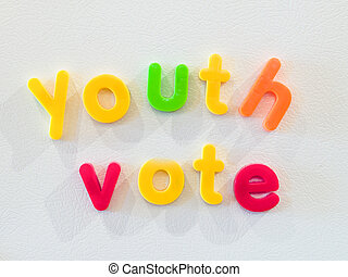 Youth vote concept