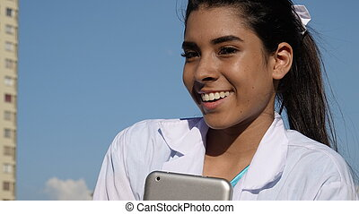 Youthful Teenager Happy Nurse