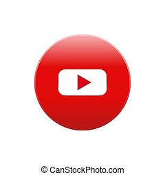 Youtube vector icon color website mobile app