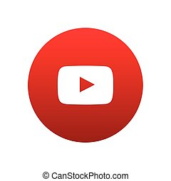 Youtube vector icon design for website