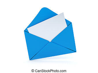 You\'ve got new mail - 3d isolated on white background...