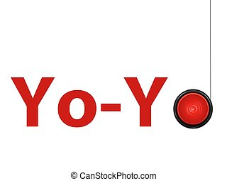 A toy yoyo isolated against a white background