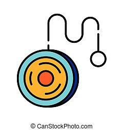 Yoyo LineColor illustration - A yoyo vector illustration in...